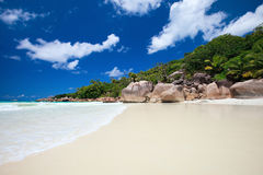 Stunning tropical beach at Seychelles Stock Image