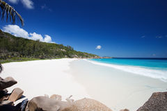 Stunning tropical beach at Seychelles Stock Images