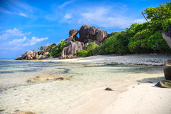 Stunning Tropical Beach In The Seychelles Royalty Free Stock Images