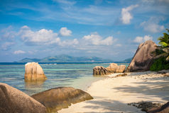 Stunning Tropical Beach In The Seychelles Royalty Free Stock Photography