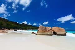 Stunning tropical beach at Seychelles Stock Photos