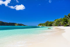 Stunning tropical beach at Seychelles Royalty Free Stock Image