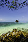 Stunning tropical sea view at Kapas Island, Terengganu, Malaysia. Royalty Free Stock Photo