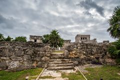 Stunning tulum mexico ancient civilization stock images