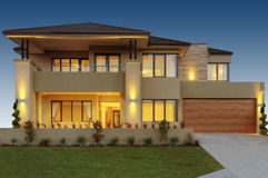 Stunning Two Storey Home. Exclusive and stunning two storey home royalty free stock photos
