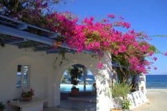Stunning Santorini view stock photos