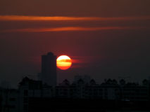 Stunning Urban Sunset. Bangkok, Thailand stock image