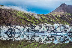 Stunning Vatnajokull glacier and lake, Iceland Royalty Free Stock Images