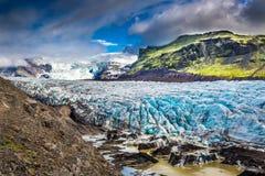 Stunning Vatnajokull glacier and mountains, Iceland. Stunning Vatnajokull glacier and mountains in Iceland Stock Photo