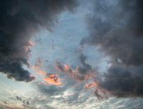 Stunning vibrant stormy cloud formation background Royalty Free Stock Image