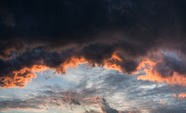 Stunning vibrant stormy cloud formation background Stock Image