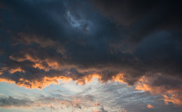 Stunning vibrant stormy cloud formation background Stock Photos