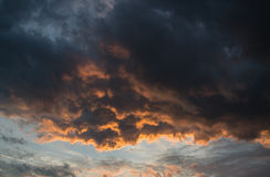 Stunning vibrant stormy cloud formation background Royalty Free Stock Photos