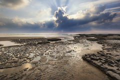 Free Stunning Vibrant Sunset Landscape Over Dunraven Bay In Wales Stock Photos - 60963603