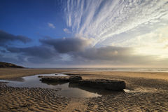 Free Stunning Vibrant Sunset Landscape Over Dunraven Bay In Wales Stock Photography - 61976812