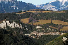 Stunning view of alps and valley. Royalty Free Stock Photo