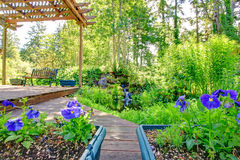 Stunning view from backyard deck Royalty Free Stock Photography