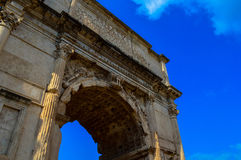 Stunning view of the beautiful Arch of Constantine, Rome, Italy. View of the Arch of Constantine, Rome, Italy Stock Images