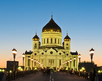 Stunning view of Cathedral of Christ the Savior Royalty Free Stock Image