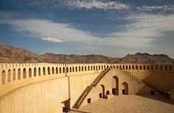 Stunning view of the city of Nizwa surrounded by mountains Stock Photo