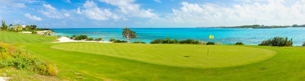 Golf course. Stunning view of a coastal golf course stock photography