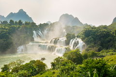 Stunning view at Detian waterfall in Guangxi, China Stock Images