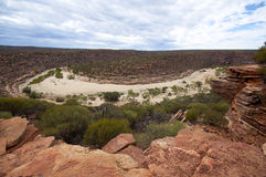 Stunning view of dry river bed Stock Image