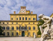 Stunning view of Ducal garden`s palace, Parma, Italy Stock Images