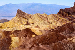 Stunning view of famous Zabriskie Point in Death Valley National Park Royalty Free Stock Photos