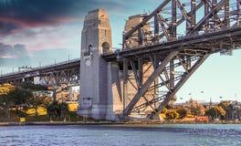 Stunning view of Harbour Bridge in Sydney - Australia.  Royalty Free Stock Image