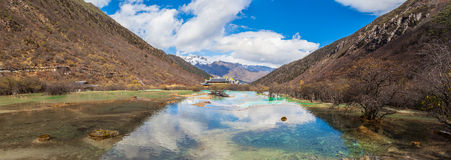 Stunning view in Huanglong national Park Royalty Free Stock Photo