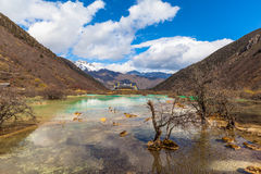 Stunning view in Huanglong national Park Royalty Free Stock Photos