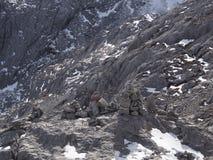 A Stunning view of Jade Dragon Snow Mountain in Lijiang Yunnan P royalty free stock image