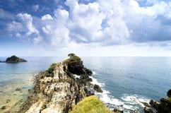 Stunning view of Kapas Island , Terengganu, Malaysia from hill top Royalty Free Stock Photography