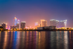 Stunning view of Macau at night Macau tower Royalty Free Stock Image