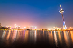 Stunning view of Macau at night Macau tower Royalty Free Stock Photography