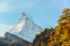 Stunning View Of Matterhorn In Swiss Alps Royalty Free Stock Photos