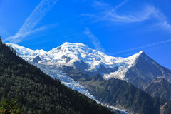 Stunning View of Mont Blanc from Chamonix Stock Photos