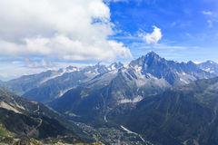 Stunning view of the Mont Blanc massif Royalty Free Stock Photo