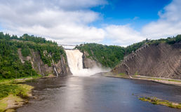 Stunning view of Montmorency Falls, Canada Stock Photo