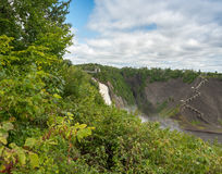 Stunning view of Montmorency Falls, Canada Royalty Free Stock Image