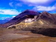 Stunning view of the mountainous Tongariro Crossing, New Zealand Stock Photos