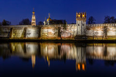 Stunning View of Novodevichy Convent in the Evening, Moscow Stock Photography