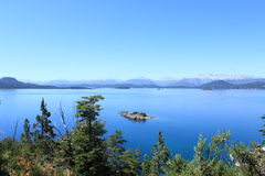 Stunning view over the lakelands in Bariloche, Argentina Royalty Free Stock Images