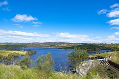 Dam Myponga Reservoir, South Australia Royalty Free Stock Images