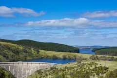 Dam Myponga Reservoir, South Australia Stock Photo
