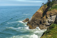 Stunning view of the pacific northwest coastline from Cape Disappointment state park Washington USA. Stock Photo