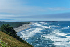 Stunning view of the pacific northwest coastline from Cape Disappointment state park Washington USA. Royalty Free Stock Photo