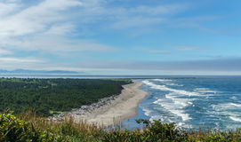Stunning view of the pacific northwest coastline from Cape Disappointment state park Washington USA. Stock Image