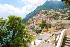 Stunning view of Positano village, Amalfi Coast, Italy.  royalty free stock photography